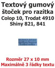 Štoček do razítka Colop printer 10, Trodat 4910
