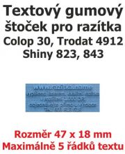 Štoček do razítka Colop printer 30, Trodat 4912