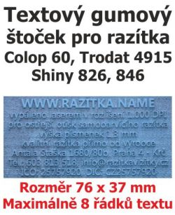 Štoček do razítka Colop printer 60, Trodat 4915